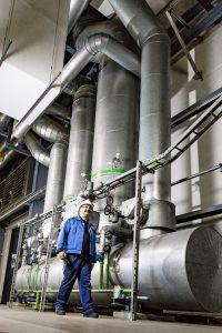 Rundgang in der Gas- und Dampfturbinenanlage