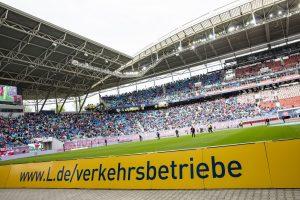 Blick ins Stadion: Die Leipziger Gruppe ist Partner von RB Leipzig