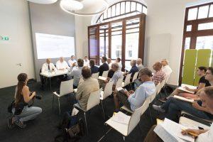 Gut besucht: Bilanz-Pressekonferenz der Leipziger Gruppe.