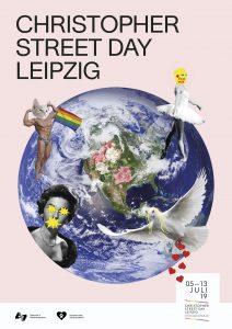 Das Plakat des Christopher-Street-Day Leipzig 2019