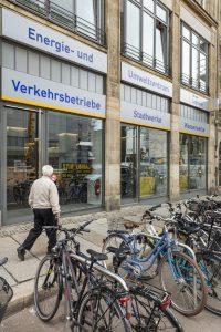 Außenansicht Energie- und Beratungszentrum der Leipziger Stadtwerke in der Katharinenstrasse