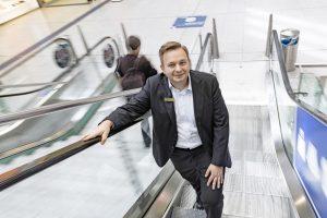 Centermanager der Promenaden Hauptbahnhof Leipzig Thomas Oehme hält die Fäden in der Hand.
