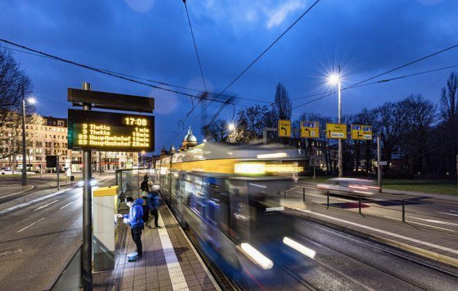 Haltestelle Leipziger Verkehrsbetriebe