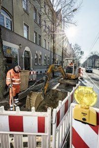 Baustelle der Leipziger Wasserwerke