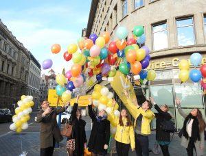 Leipzschini Jagd beendet: 99 Luftballons steigen in den Himmel