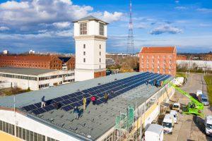 Neue PV-Anlagen auf dem Campus Südost der Leipziger stadtwerke