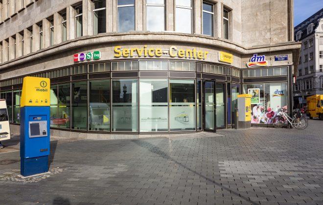 LVB Servicecenter in der Markgrafenstraße von Außen