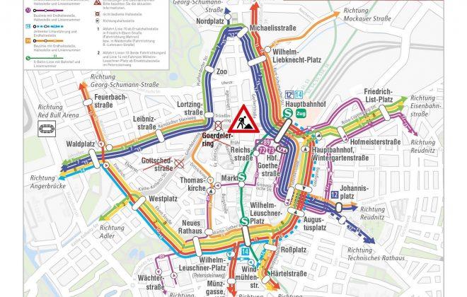 Leipziger Mobilitäts Tipps: Der Netzplan ab 30. März 2020