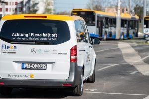 Flexa für Helden: ein Flexa-Bus in Leipzig