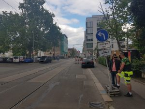 Blick in die Rosa Luxemburg Strasse