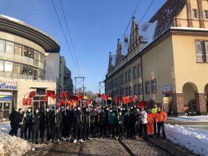 #gemeinsamschippenwirdas: LVB-Handballer in Schkeuditz angekommen