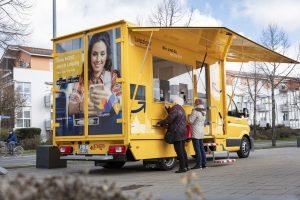 Blick auf das neue Servicemobil der LVB
