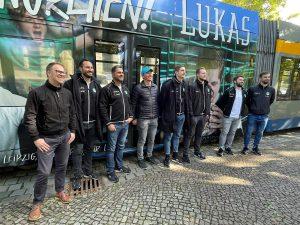 Handballer des SC DHfK Lukas Bäcker Leipziger Gruppe